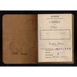 Lotto di attestati e foto di un SS - Sturmmann Polizei rgt.