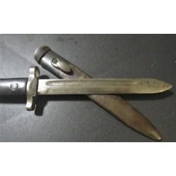 """Coltello """"kukri"""" in avorio e filigrana XIX secolo"""